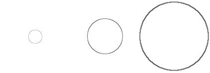 Kreise in Rastergrafik gezoomt