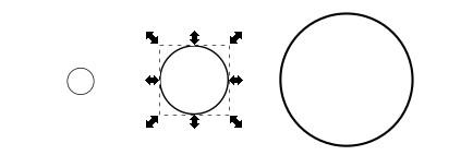Kreise in Vektorgrafik gezoomt