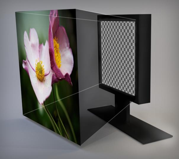 Visualisierung Bildprojektion auf Monitor